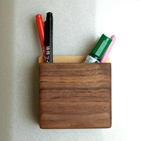 マグネット ペンスタンド ペン立て 壁掛け 壁付け 磁石 木製 おしゃれ マグネット・ペンポケット [map4724]