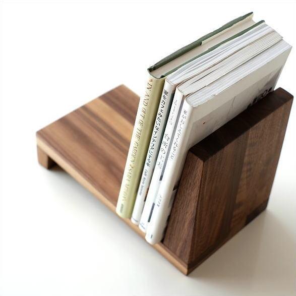 ブックスタンド 木製 本立て シンプル ナチュラル 木 無垢材 卓上 机上 おしゃれ ブックスタンド ウォルナット [map4746]