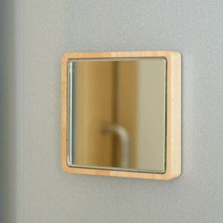 マグネット ウォールミラー 鏡 壁掛けミラー 壁付け 磁石 木製 おしゃれ 小さい コンパクトミラー マグネット・ミニミラー