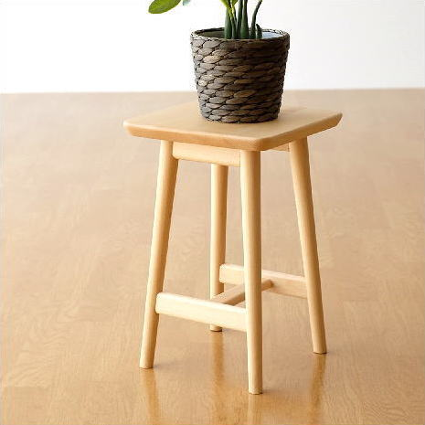 花台 フラワースタンド 木製 天然木 サイドテーブル コンパクト おしゃれ シンプル ナチュラルウッドの花台・ロータイプ [map4931]
