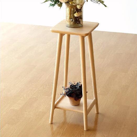 花台 フラワースタンド 木製 天然木 サイドテーブル コンパクト おしゃれ シンプル ナチュラルウッドの花台・ハイタイプ [map4932]