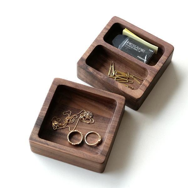 トレイ 小物入れ 木製 おしゃれ 卓上 アクセサリートレイ 天然木 ウォールナット ウォルナット机楽トレイ 2タイプ [map4946]