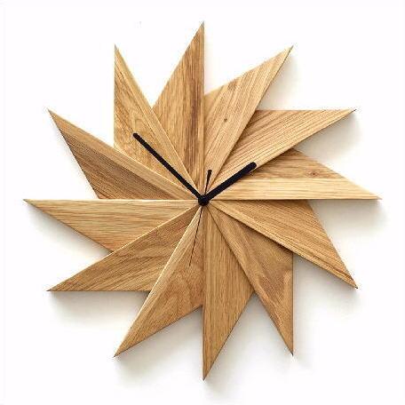 掛け時計 おしゃれ 木製 ウッドウォールクロック ウィンドウ オーク