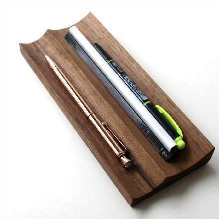 ペントレー 木製 天然木 ウォールナット ペン置き ナチュラルウッドのペントレイ