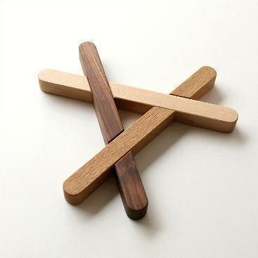 鍋敷き 木製 おしゃれ 無垢材 木の鍋敷き くみ木 [map7220]