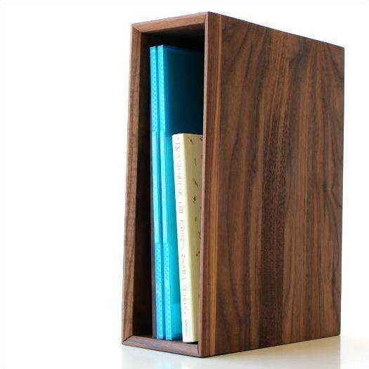 ファイルボックス ファイルスタンド A4 おしゃれ 木製 無垢材 ナチュラルウッドのアーカイブボックス ウォルナット