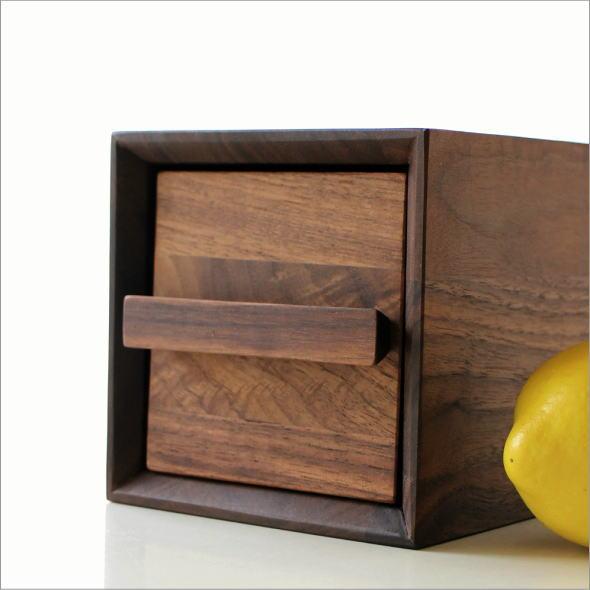 小物入れ 引き出し 卓上 ケース おしゃれ 木製 無垢材 ナチュラルウッドのミニボックス B