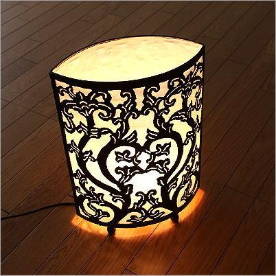 アジアン 照明 フロアランプ スタンドライト フロアスタンド 間接照明 フロアライト 照明スタンド おしゃれ リビング照明 アイアンカットワークオーバルランプ