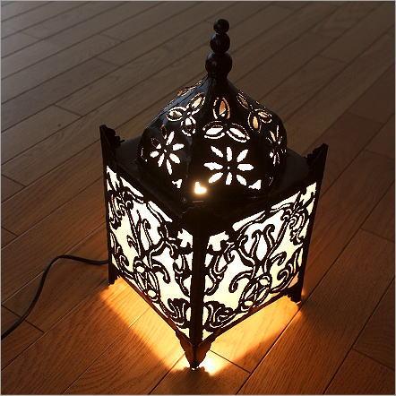 アジアン 照明 フロアランプ スタンドライト フロアスタンド おしゃれ アイアンカットワークモスクランプ