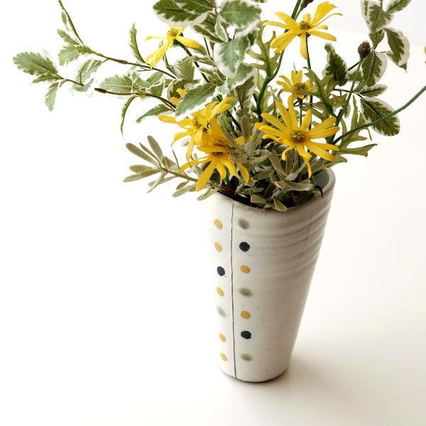 和陶器ベース 花瓶 六 [mkn4019]