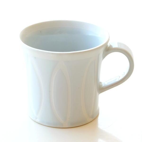 マグカップ ホワイト 白 陶器 日本製 おしゃれ 瀬戸焼 焼き物 シンプル モダン Reiホワイトマグ [mkn6156]