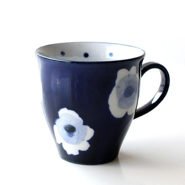 マグカップ かわいい 陶器 日本製 おしゃれ 和風 和モダン 瀬戸焼 RURIマグ [mkn7074]