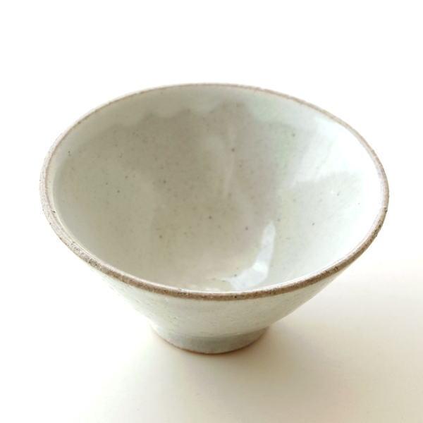 お茶碗 ご飯茶碗 おしゃれ 陶器 日本製 瀬戸焼 シンプル 和食器 焼き物 飯碗 ご飯茶わん 粉引 姫茶碗 [mkn7582]