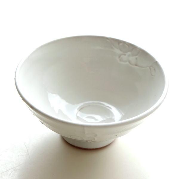 お茶碗 ご飯茶碗 おしゃれ 陶器 日本製 瀬戸焼 かわいい 和食器 焼き物 飯碗 ご飯茶わん 花の木粉引茶碗 [mkn7701]