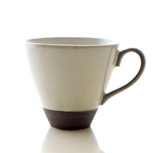 マグカップ シンプル かわいい 陶器 日本製 瀬戸焼 焼き物 おしゃれ コーヒーカップ コップ 和食器 和モダン スタイリッシュ マグカップ 請らせん [mkn7703]