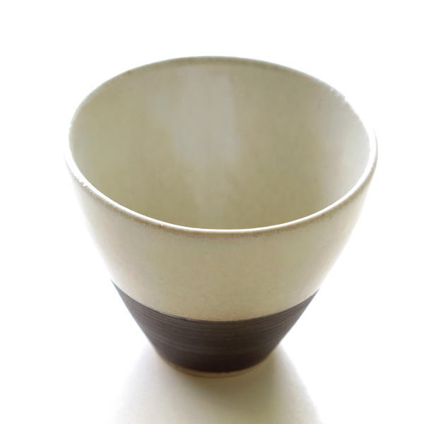 フリーカップ 陶器 おしゃれ 湯のみ 湯のみ茶碗 湯呑み 湯飲み 日本製 瀬戸焼 焼き物 シンプル かわいい 和食器 和モダン スタイリッシュ フリーカップ 請らせん [mkn7720]