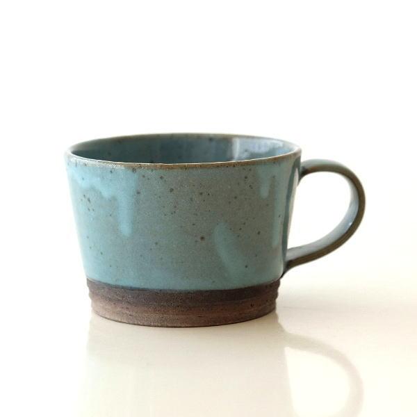 マグカップ 陶器 おしゃれ 日本製 瀬戸焼 和モダン アクアブルーマグ [mkn7785]