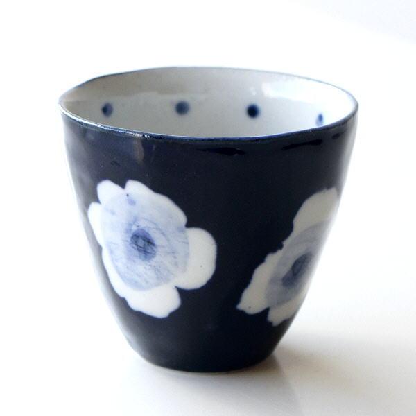 湯呑み おしゃれ 湯のみ 湯飲み 瀬戸焼 日本製 焼き物 和風 かわいい RURIフリーカップ [mkn8219]