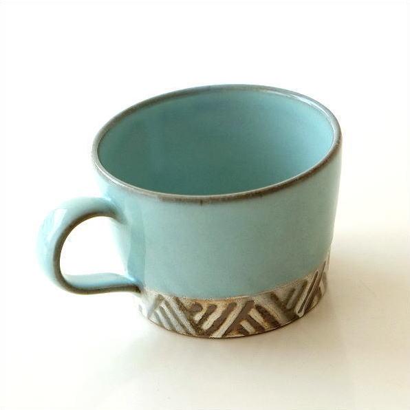 マグカップ おしゃれ 陶器 和モダン コーヒーマグ コーヒーカップ 日本製 焼き物 瀬戸焼 ビッグマグ アクア [mkn8705]
