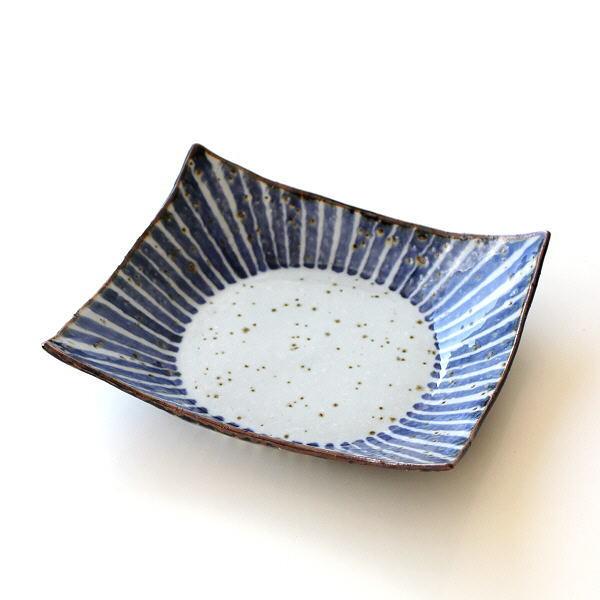 盛り鉢 盛皿 おしゃれ お皿 和食器 波佐見焼 日本製 染十草 角盛り鉢 [msg0720]