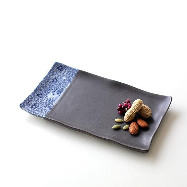 焼き皿 お皿 おしゃれ 磁器 波佐見焼 日本製 皿 和食器 和風 和モダン 焼き物 みじん唐草 焼き皿 [msg3170]