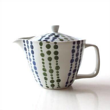 ティーポット 陶器 日本製 有田焼 白 おしゃれ 急須 二色しずくポット [msg3562]