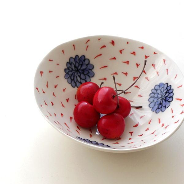 和食器 中鉢 陶器 おしゃれ ボウル 盛り鉢 盛り皿 日本製 有田焼 焼き物 ひめのはな 5寸鉢 [msg6073]