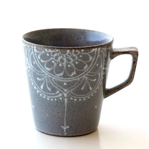 マグカップ グレー おしゃれ 陶器 有田焼 日本製 焼き物 レース貫入グレーマグ [msg6146]