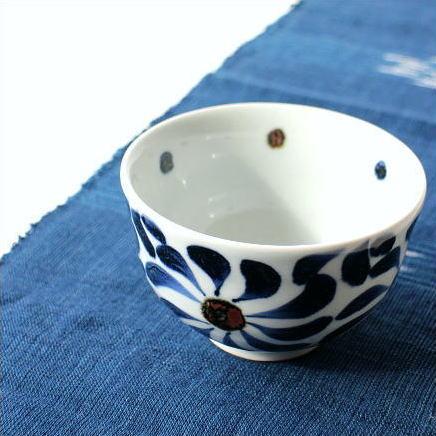 ご飯茶碗 ごはん茶碗 お茶碗 おしゃれ 和食器 有田焼 飯碗 染付渦草花 [msg6881]
