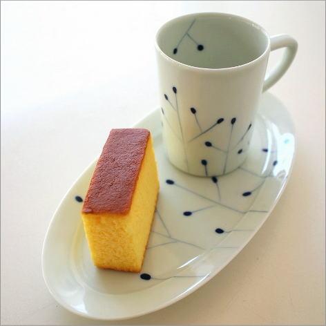 コーヒーカップ&ソーサー ティーカップ お皿 プレート セット 陶器 有田焼 日本製 和食器 カップ&ロングソーサー コダチ