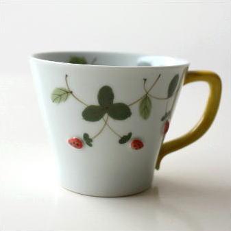 マグカップ 陶器 有田焼 日本製 コーヒーカップ 和風 洋風 デザイン マグカップ 野いちご