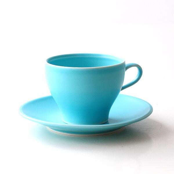 カップ&ソーサー ブルー おしゃれ かわいい 磁器 有田焼 日本製 焼き物 トルコブルーカップ&ソーサー [msg9755]