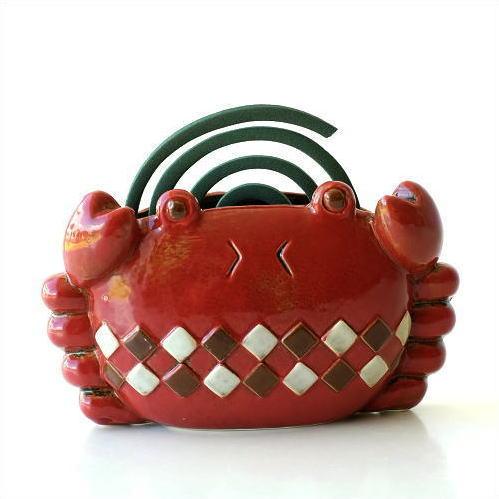 陶器の蚊遣り カニ [mtl6336]
