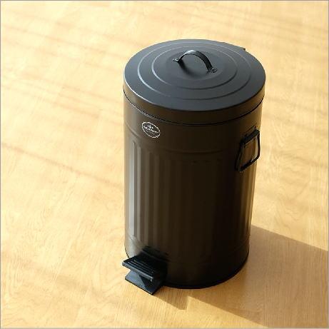 ゴミ箱 ペダル ふた付き おしゃれ 12L ペダルビン スチール 黒 ブラック モダン シンプル 洗面所 ダストボックス ダスト缶 ペダル付きゴミ箱 L