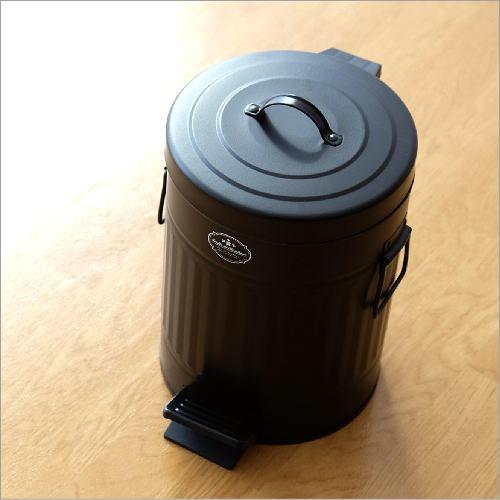 ゴミ箱 ペダル ふた付き おしゃれ 5L ペダルビン スチール 黒 ブラック モダン シンプル 洗面所 ダストボックス ダスト缶 ペダル付きゴミ箱 S