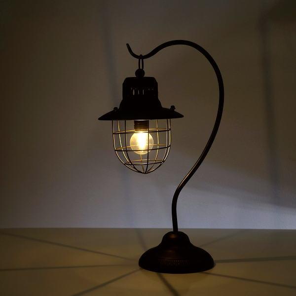 テーブルランプ スタンドライト LED 照明 ハンギングライト レトロ アンティーク ランプスタンド 卓上ランプ 卓上スタンド LEDハンギングスタンドランプ [mty8733]