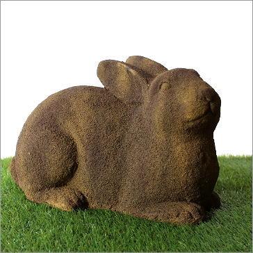 ガーデンオブジェ うさぎ ウサギ 置物 お庭 雑貨 シンボルマスコット ハウスサイン ガーデンモスビッグラビット [ove2975]