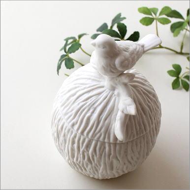 小物入れ おしゃれ かわいい ボックス ふた付き アクセサリーケース 鳥 雑貨 陶器のバードケース A