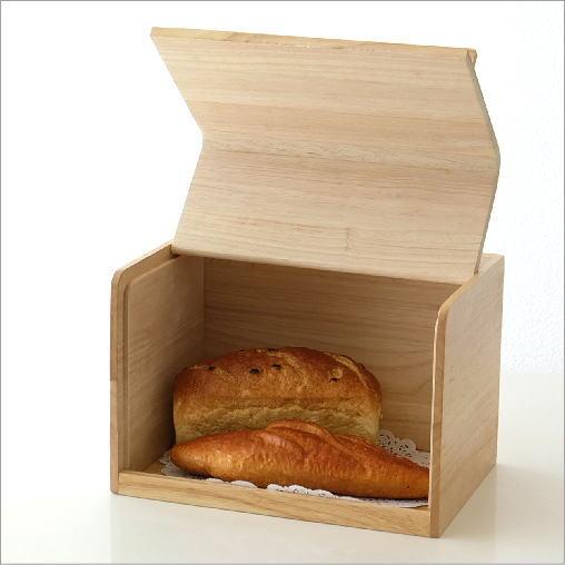 ブレッドケース 木製 パンケース パン入れ 食パン ストッカー 収納 保存ケース 調味料入れ ナチュラル シンプル おしゃれ スクエアブレッドケース ナチュラル