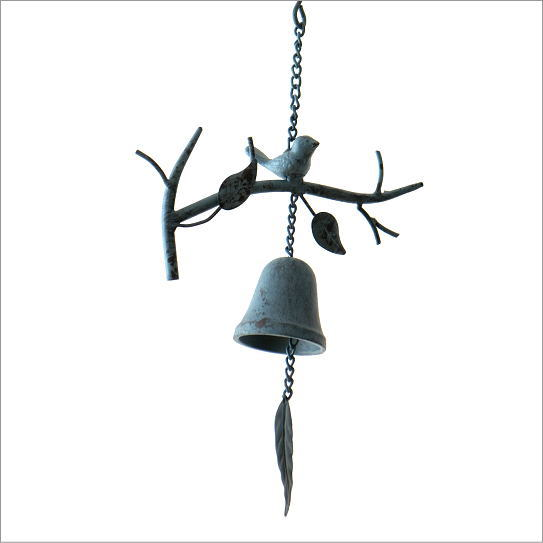 ベル アイアン 鳥 雑貨 呼び鈴 アンティーク レトロ おしゃれ ガーデン オーナメント オブジェ アクセサリー かわいい アイアンのブランチバードベル