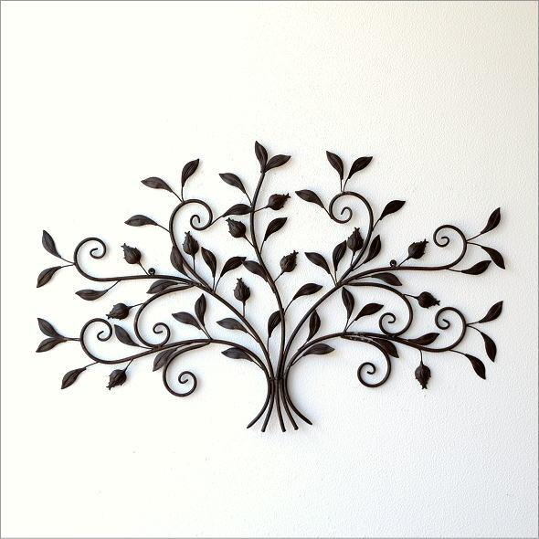 レトロなアイアンの壁飾り ブーケ