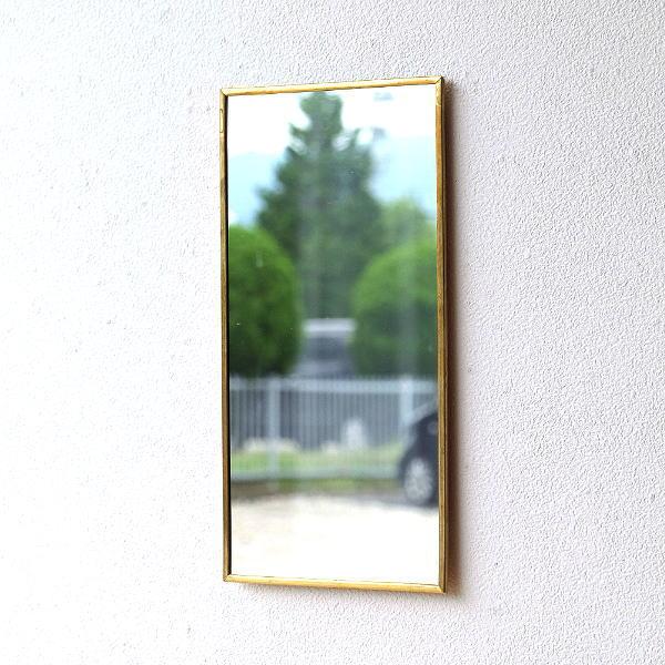 アンティークな真鍮のウォールミラーA [plk6147]