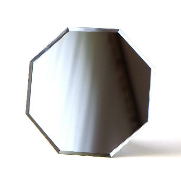 鏡 八角ミラー 八角形 壁掛け 卓上 おしゃれ シンプル 風水 スタンド&ウォールミラー八角 [plk6898]