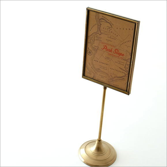 フォトフレーム カードスタンド 写真立て アンティーク レトロ 真鍮 おしゃれ シンプル ブラススタンドフレーム