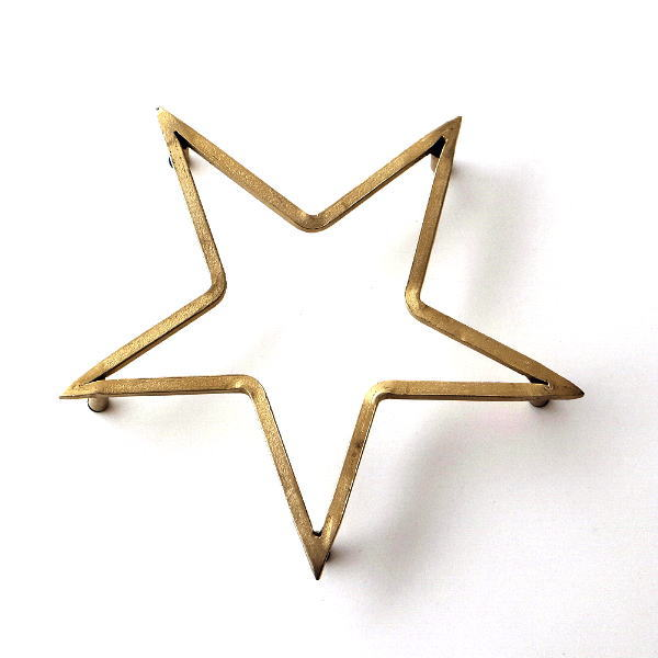 鍋敷き おしゃれ 星 ゴールド 真鍮のトリベット スター [ras3959]