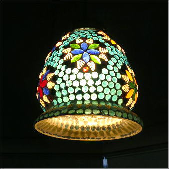 ペンダントライト モザイクガラス かわいい おしゃれ デザイン LED対応 シーリングライト モザイクハンギングランプ みずたま