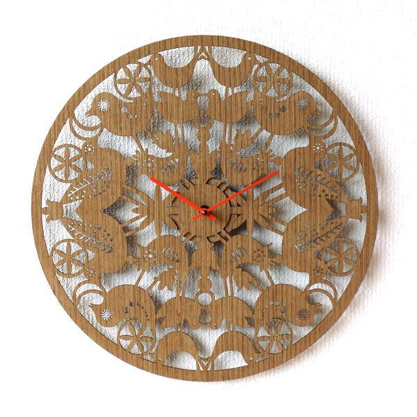 壁掛け時計 掛け時計 おしゃれ 木製 鳥 かわいい 可愛い 文字盤なし ナチュラル 40cm 【送料無料】 Woodウォールクロック [ras4528]