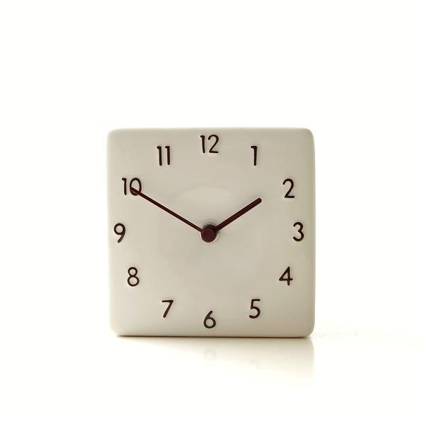 置き時計 おしゃれ アナログ 陶器 日本製 美濃焼 シンプル セラミックデスククロック A [ras4869]