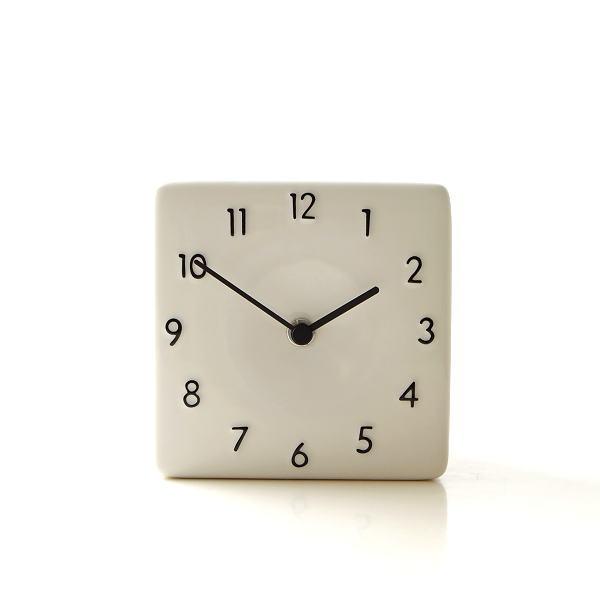 置き時計 おしゃれ アナログ 陶器 日本製 美濃焼 シンプル セラミックデスククロック B [ras4873]