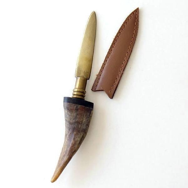 ペーパーナイフ レターオープナー おしゃれ アンティーク レトロ デザイン インテリア 雑貨 真鍮とボーンのペーパーナイフ [ras4937]